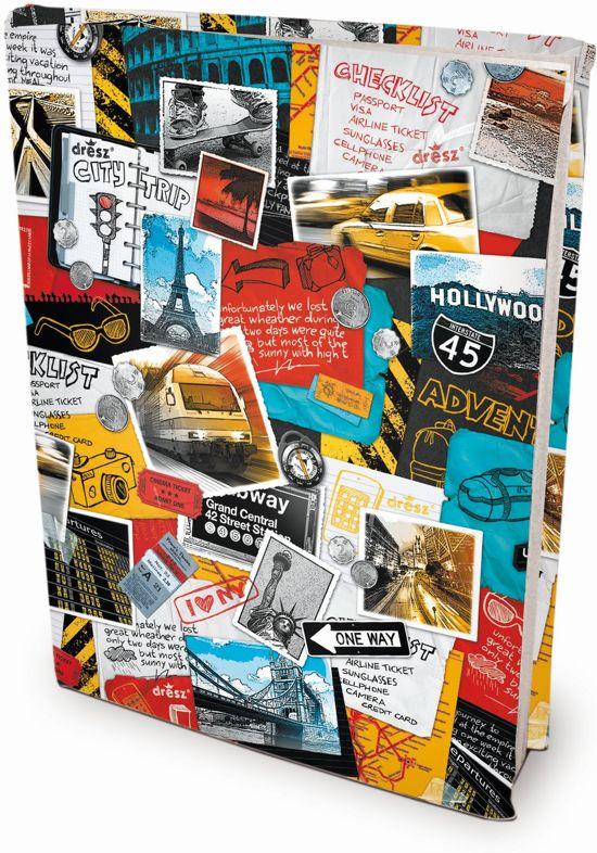 Travel - Rekbare boekenkaften - A4 - 6 stuks