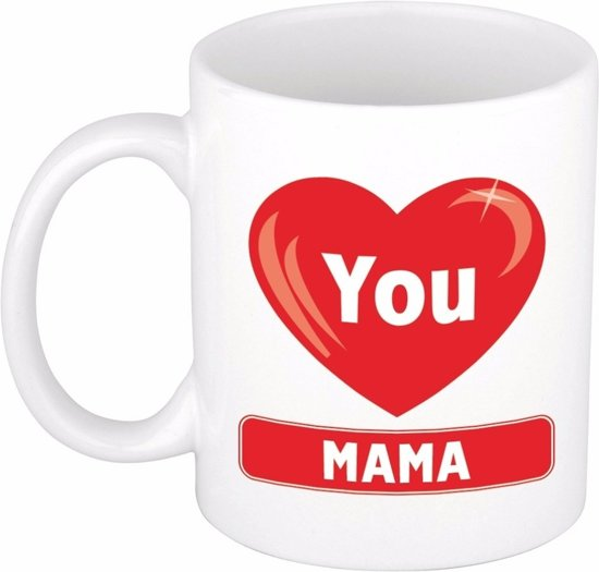 Bolcom Moederdag Cadeau Beker Mok I Love You Mama 300 Ml