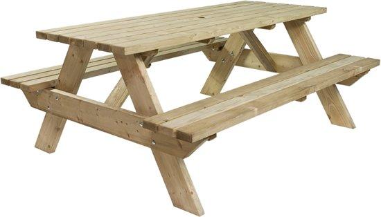 MaximaVida luxe houten picknicktafel 180 cm- extra brede poten en dwarsbalken- 40 mm houtdikte