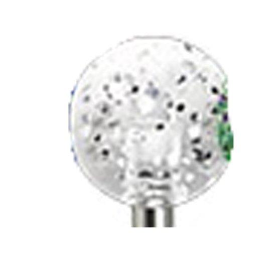 Conch piercing bal glitter wit ©LMPiercings