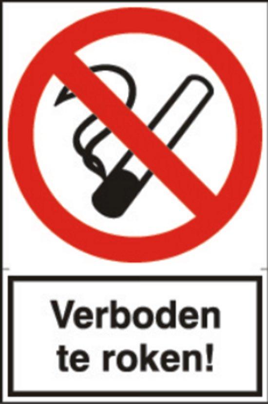 Artelli Sticker Verboden te roken set van 4 exemplaren