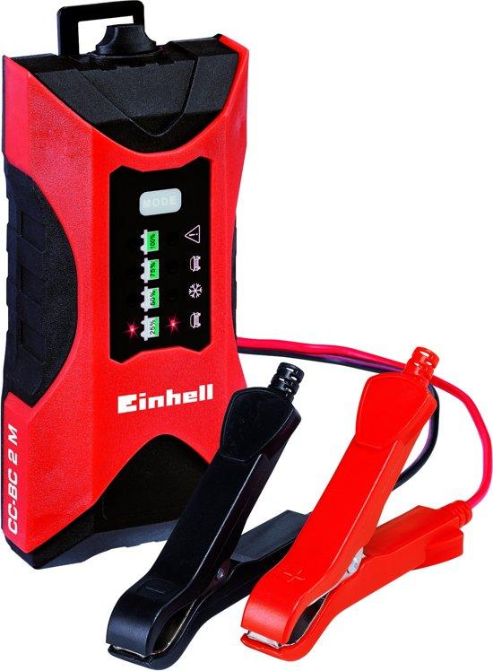Einhell CC-BC 2 M Acculader - Laadvoltage: 6/12 V - Max. Laadstroom: 2 A - Geschikt voor accu's van 3 - 60 Ah
