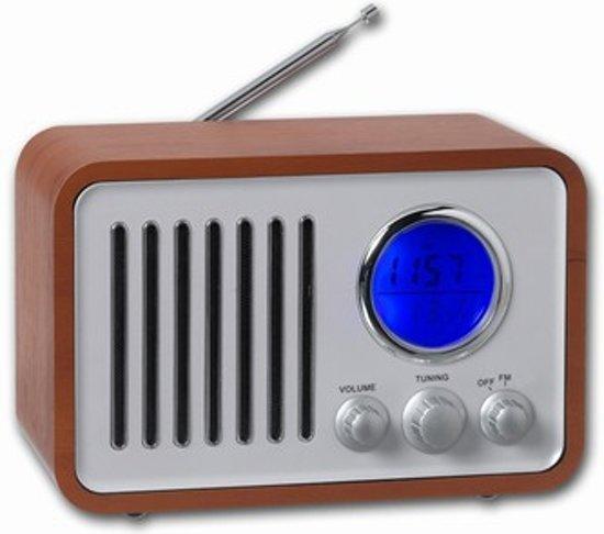 Enormt bol.com | Denver TR-37 FM-radio Retro-design - Bruin ZM96