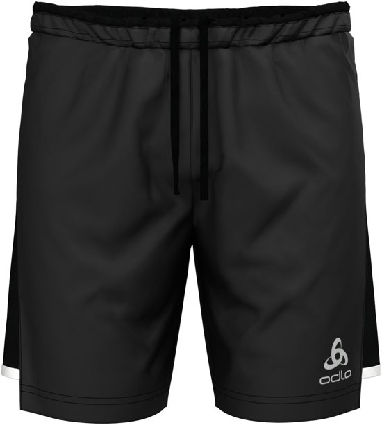 Odlo Hardloopbroek Zeroweight Ceramicool 2-In-1 Shorts - Black - L