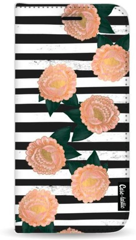 Casetastic Wallet Case Black Samsung Galaxy J4 Plus (2018) - Striped Winter Flowers