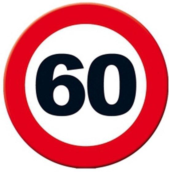 Decoratie verkeersbord 60 jaar 49 cm speelgoed for Decoratie 60 jaar