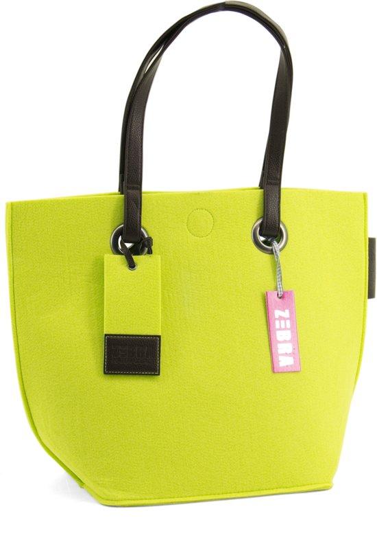 49f99587ce8 bol.com   Zebra trends shopper vilt lime groen - small