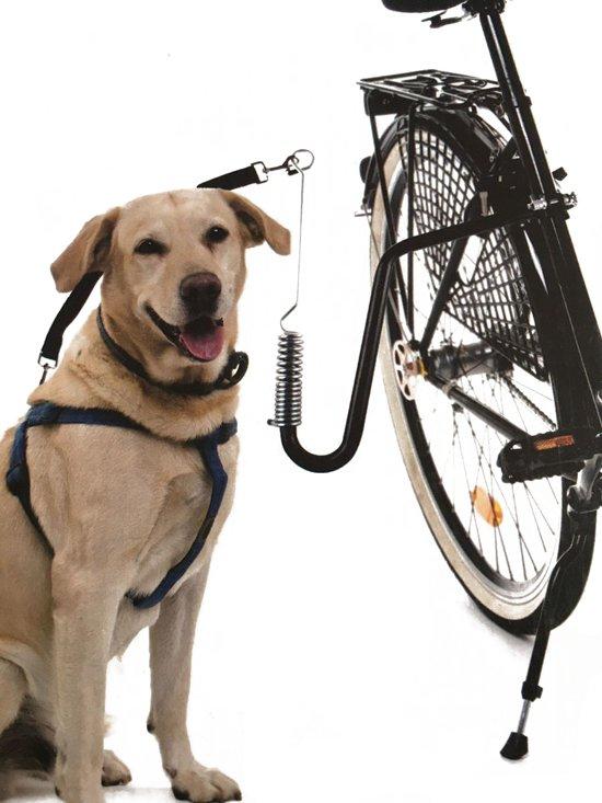 Premium Zwarte Fietsbeugel voor de Hond – 36x36x2cm | Veilig fietsen met Dieren | Hondentrainer Fiets | Fiets Springer voor honden