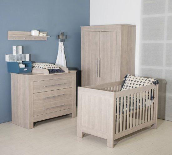 Bebies First Babykamer Nevada 3 Delige Ledikant Commode Kledingkast Grijs