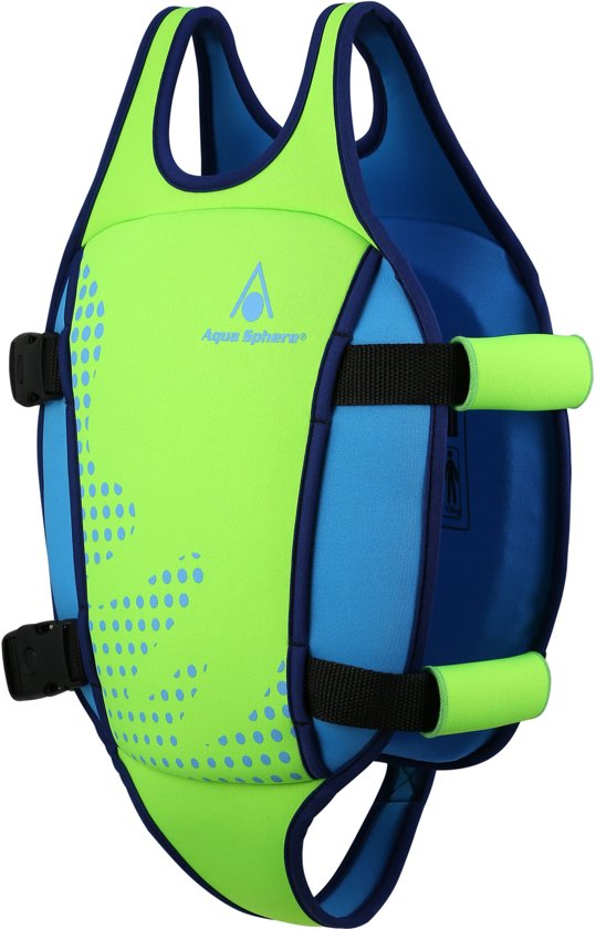 Aqua Sphere Swim Vest - Zwemvest - 2-3 jaar (15-18kg) - Groen/Lichtblauw