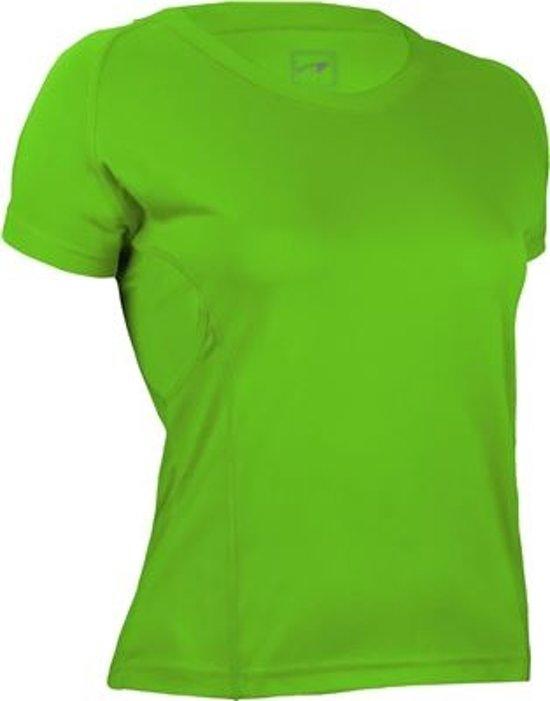 Avento Sportshirt Getailleerd Dames Lime Maat 38 (m)