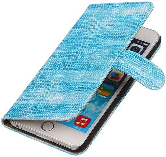 Bolcom Aa Case Turquoise Book Case Reptiel Design Apple Iphone 6