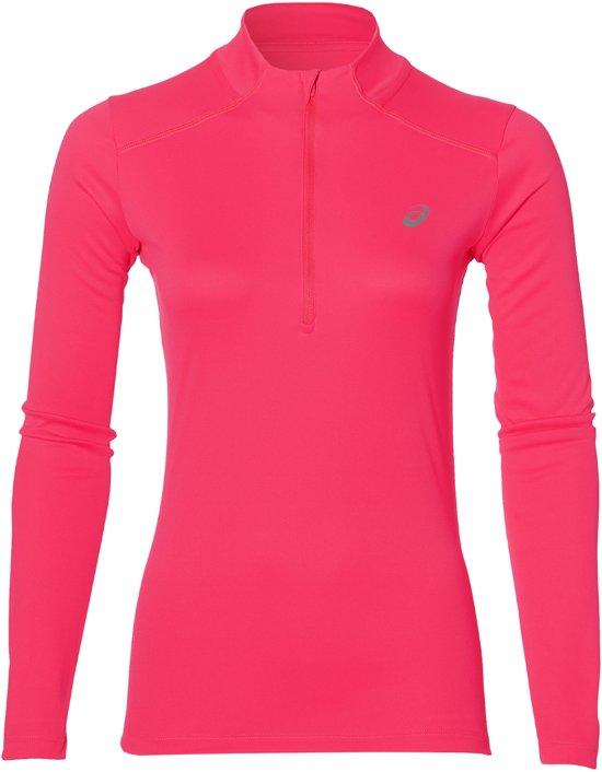 Asics Half-Zip Running Sportshirt - Maat S  - Vrouwen - roze