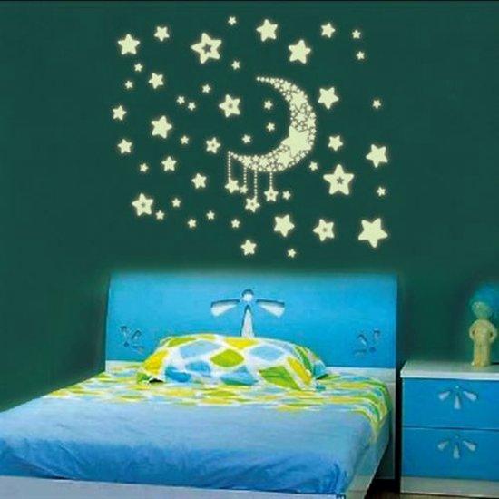 Muurstickers Kinderkamer K3.Bol Com Glow In The Dark Stickers Voor Kinderkamer Met Sterren En