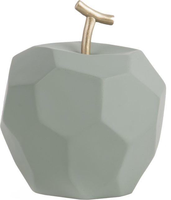 pt, (Present Time) Origami Appel - Decoratief beeld - Beton - Ø11cm - Groen (vergrijsd)