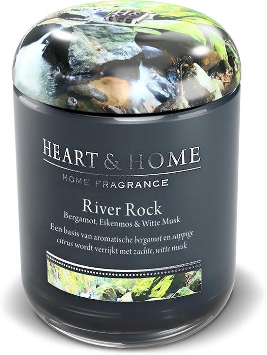 Heart & Home geurkaars in pot - River Rock (L)