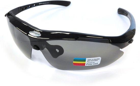 Gepolariseerde Fietsbril voor dames en heren - zwart frame