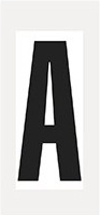 Letter stickers wit/zwart teksthoogte: 150 mm