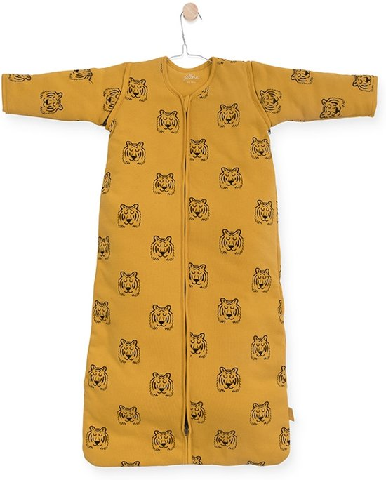 Jollein Tiger Padded Babyslaapzak met afritsbare mouw - 90cm - mustard
