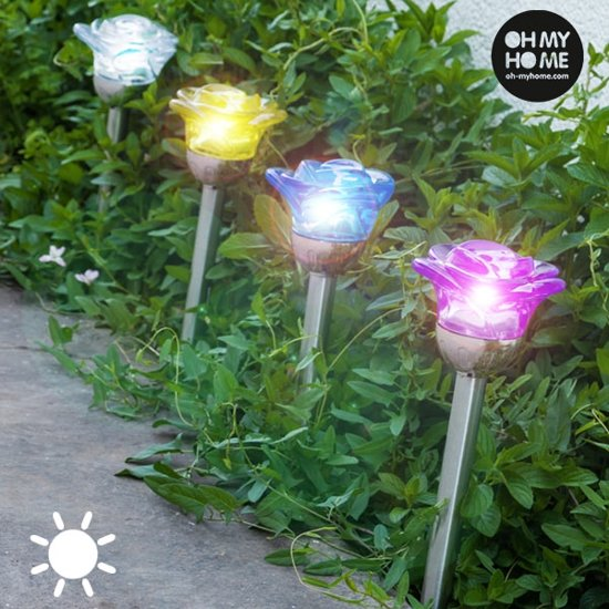 Oh My Home Flower Lamp op Zonne-Energie