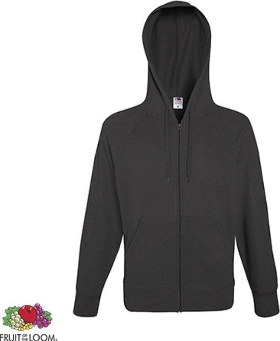 e11470835c4 Fruit of the Loom hoodie vest met rits lichtgewicht Maat L Kleur Light  Graphite