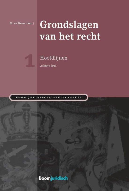 Boom Juridische studieboeken Grondslagen van het recht Hoofdlijnen