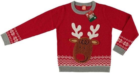 Kersttrui Voor Kinderen.Bol Com Rode Kersttrui Rendier Voor Kinderen Foute Kersttruien