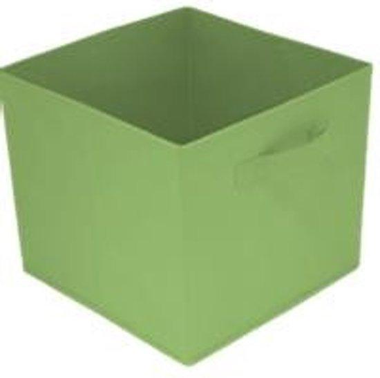 Opbergmand - opberger set van 2 manden - 28x28x27cm Trendy en handig! Groen