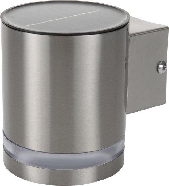 Ranex GWS003 DS Led - Solar wandlamp - met dag en nacht sensor - RVS