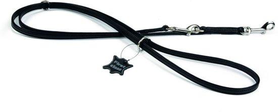 Avtive - Hondenriem - Leer - Zwart - L - 200 cm x 12 mm