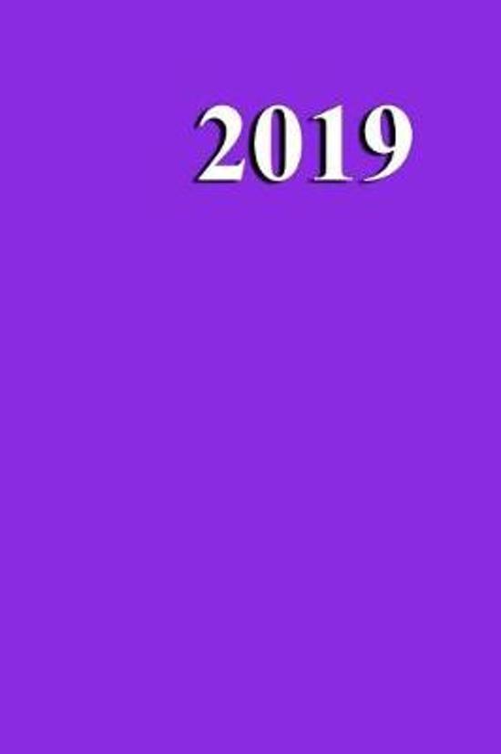 2019 Weekly Planner Violet Color Simple Plain Violet 134 Pages