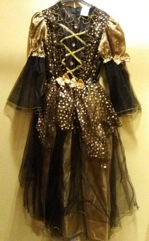 prinses /fee - zwart, goudkleurig - mt 164