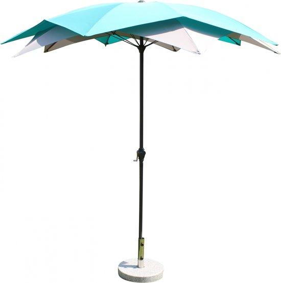 Leco Parasol Bloei - Turquoise/grijs