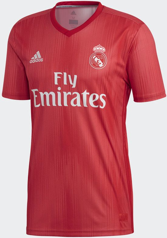 adidas Real Madrid 3rd Jersey Sportshirt Heren - Real Coral S18/Vivid Red - Maat L