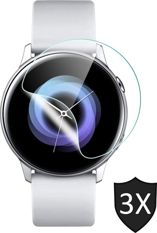 Samsung Galaxy Watch Active 2 (44 mm) Screenprotector - PET Glas Folie Screen Protector - iCall - 3 Stuks