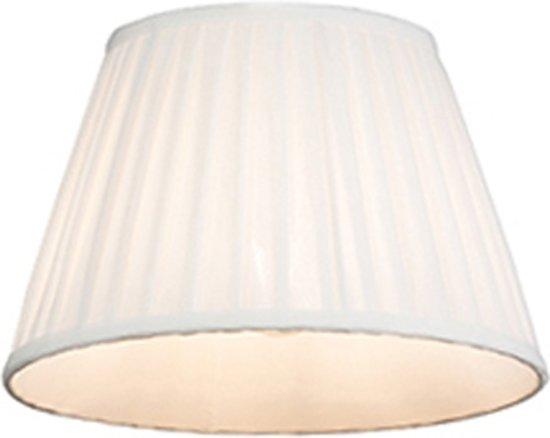QAZQA Plisse 25 - Lampenkap - Ø 250 mm - crème