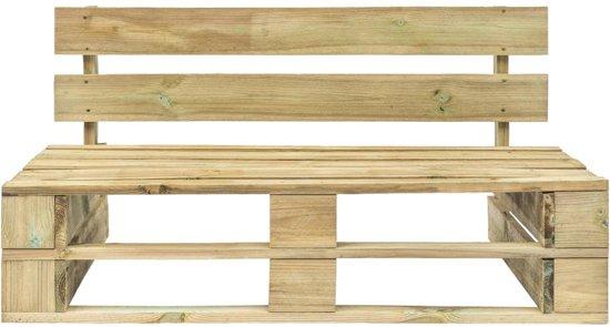 vidaXL Pallet tuinbank FSC hout groen