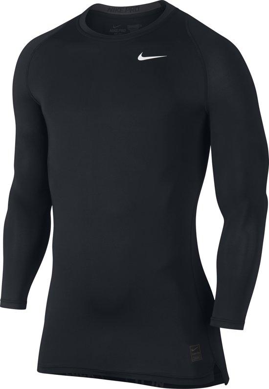 Nike Pro Cool Compression Sportshirt Mannen Maat S zwart