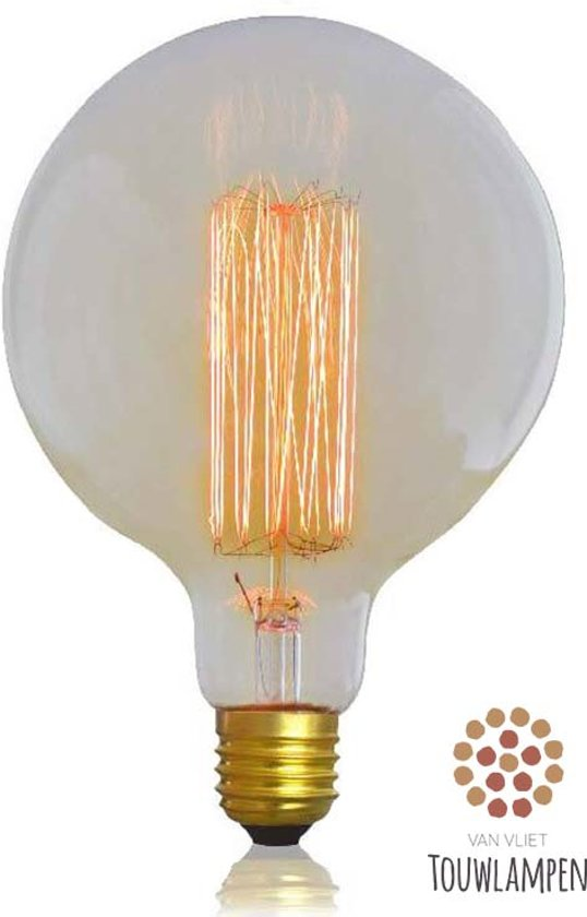 Super bol.com | Grote Kooldraadlamp Edison Gloeilamp Grote Fitting E27 QS18