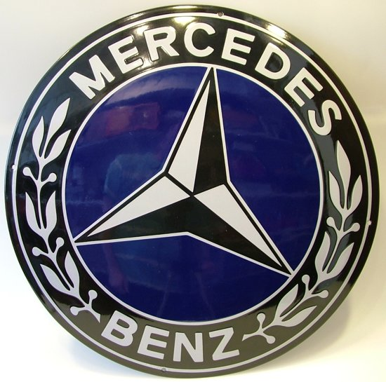 Bol Com Mercedes Blauw Reclame Bord Emaille Groot Rond Reclamebord