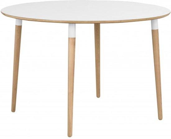 Verkoop Witte Ronde Eettafel.Bol Com Nordiq Fusion Table Ronde Eettafel Eiken Poten O115