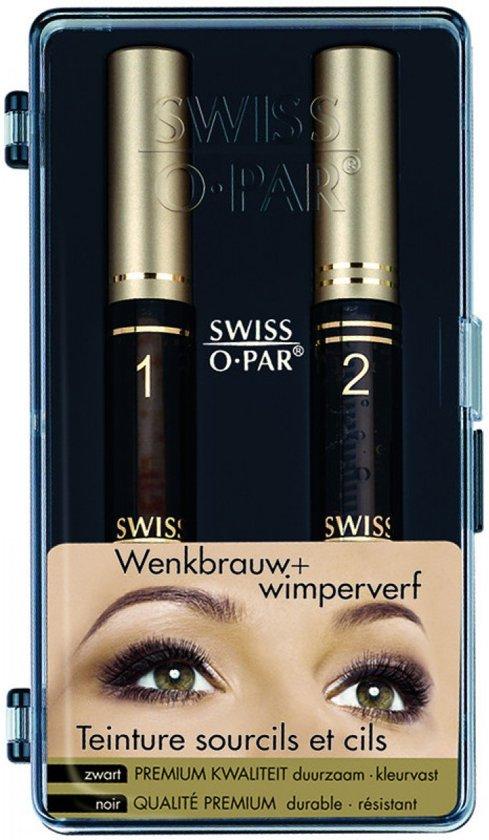 Swiss O Wenkbrauw & Wimperverf - Zwart