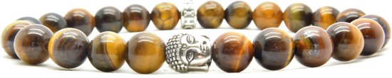 Beaddhism - Armband - Tiger - Buddha - 8 mm - 18 cm
