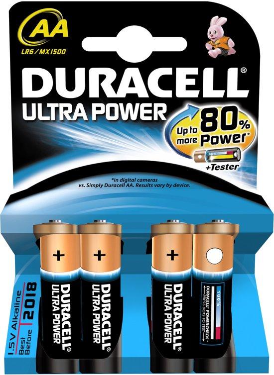 Duracell AA Ultra Power Batterijen - 4 stuks