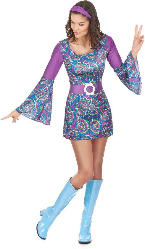 d13090486b0d71 Hippie Flower Power outfit voor dames - Verkleedkleding - Small