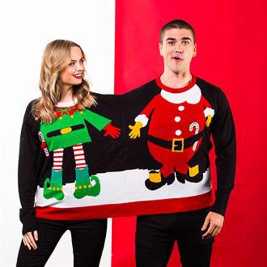Foute Kersttrui C En A.Bol Com Foute Kersttrui Duo Engel Kerstman Onze Size