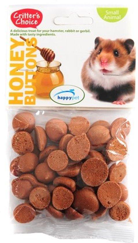 Critter's Choice Konijnensnoepjes - Knaagdiersnack - Honey Buttons