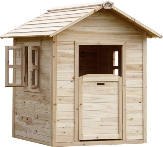 Axi speelhuisje noa hout axi speelgoed for Petite cabane de jardin en bois pas cher