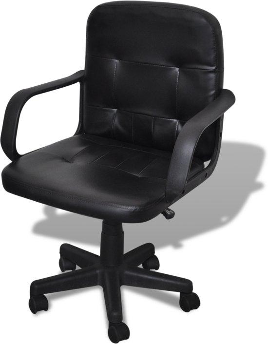 Bureaustoel 60 Cm Zithoogte.Bol Com Vidaxl Bureaustoel Bureaustoel Leer Met Exclusief Design