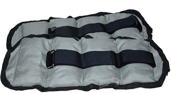 RS Sports Enkelgewichten en Polsgewichten – Gewichtsmanchetten 2 x 0,5 kg – nylon - zwart / grijs